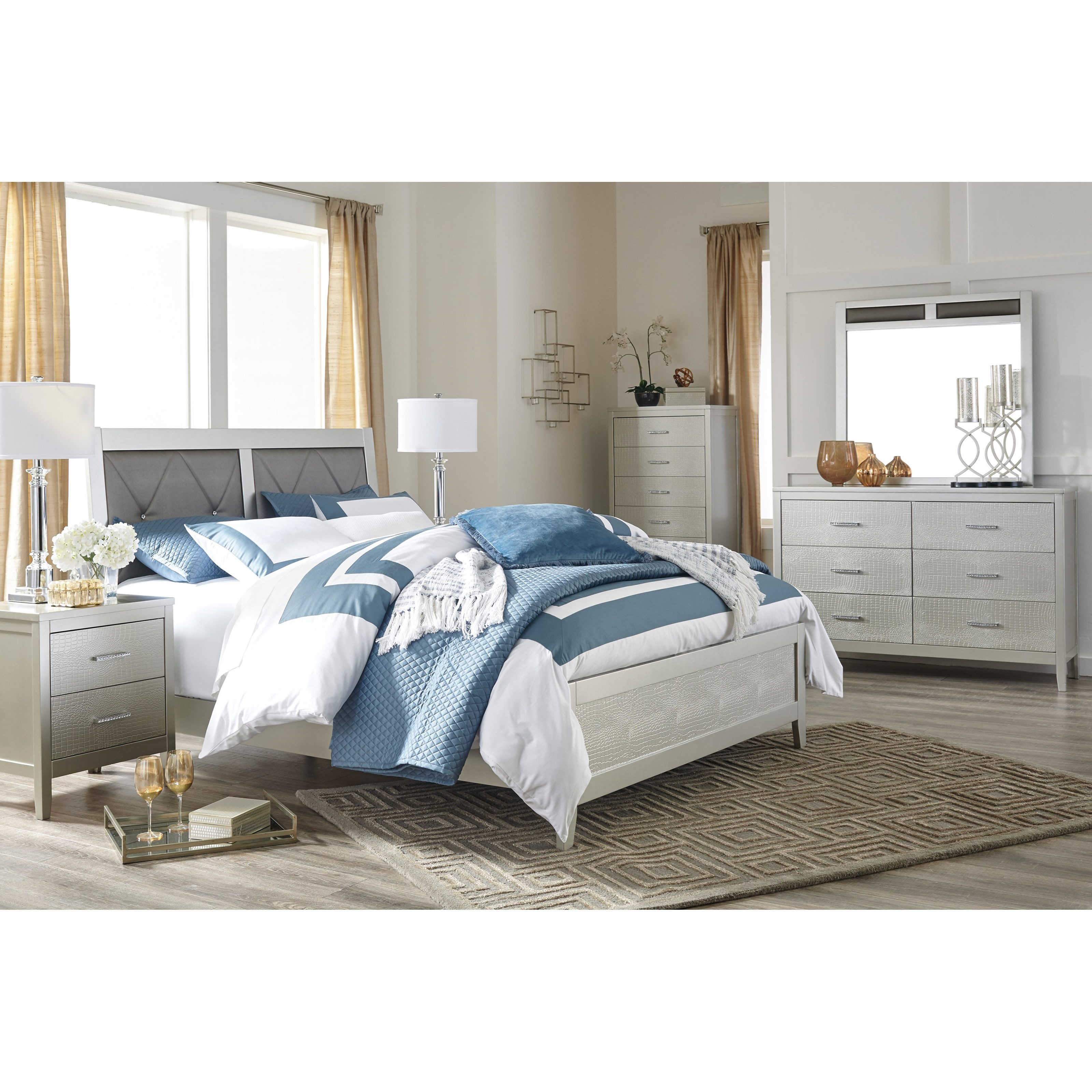 Signature Design By Ashley Olivet Glam Queen Bedroom Group