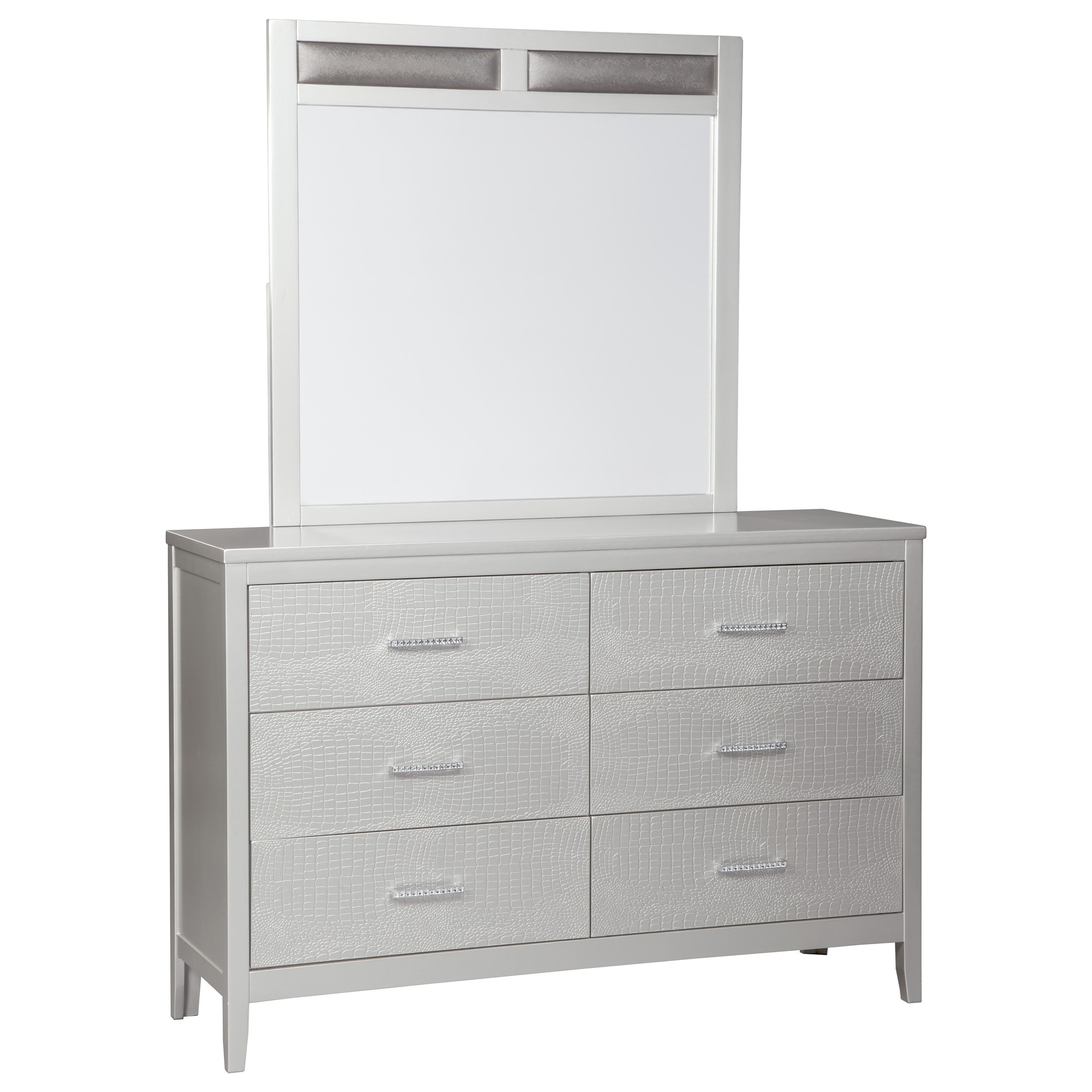 Signature Design By Ashley Olivet Dresser And Mirror Combo Furniture And Appliancemart