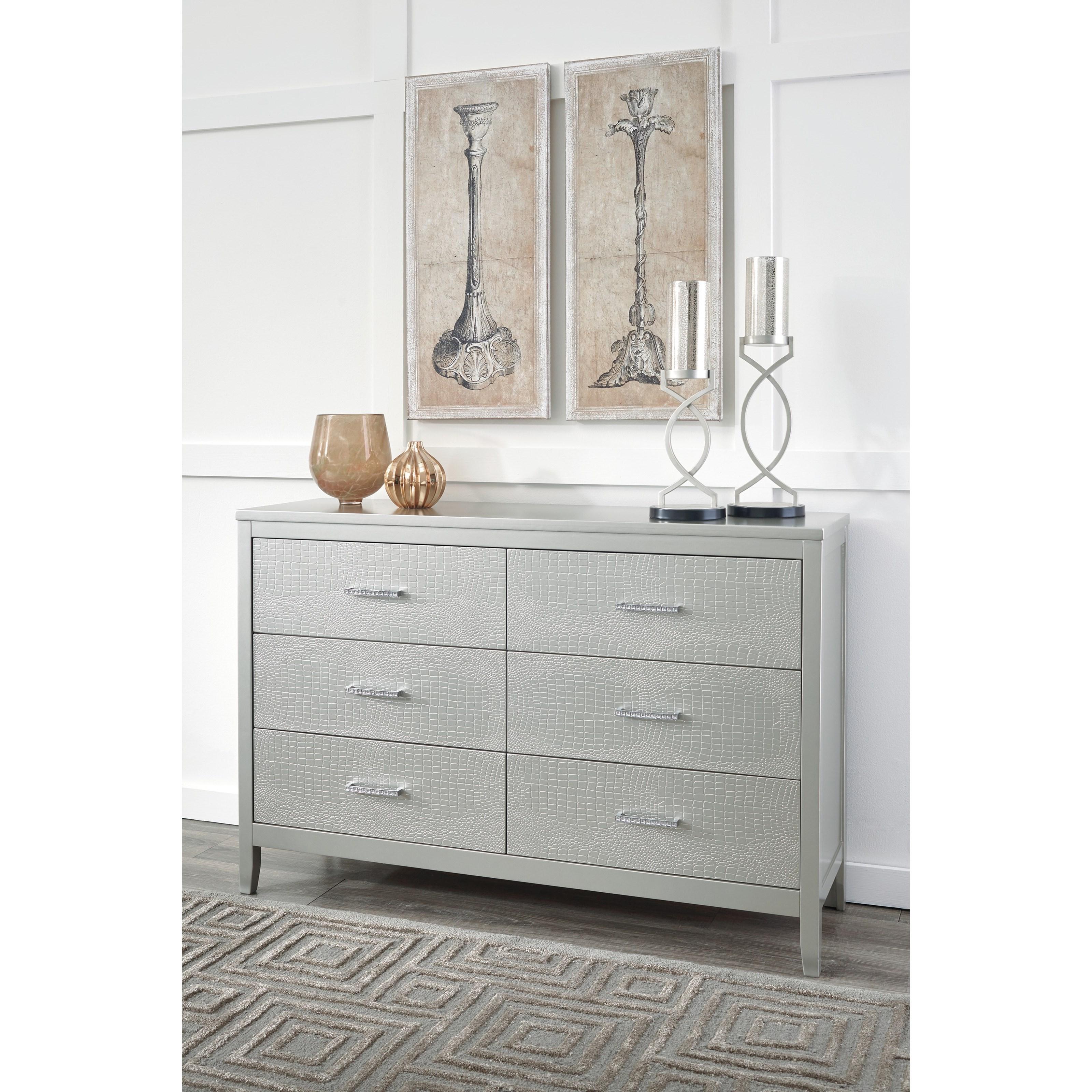 Signature Design By Ashley Olivet B560 31 Glam Dresser