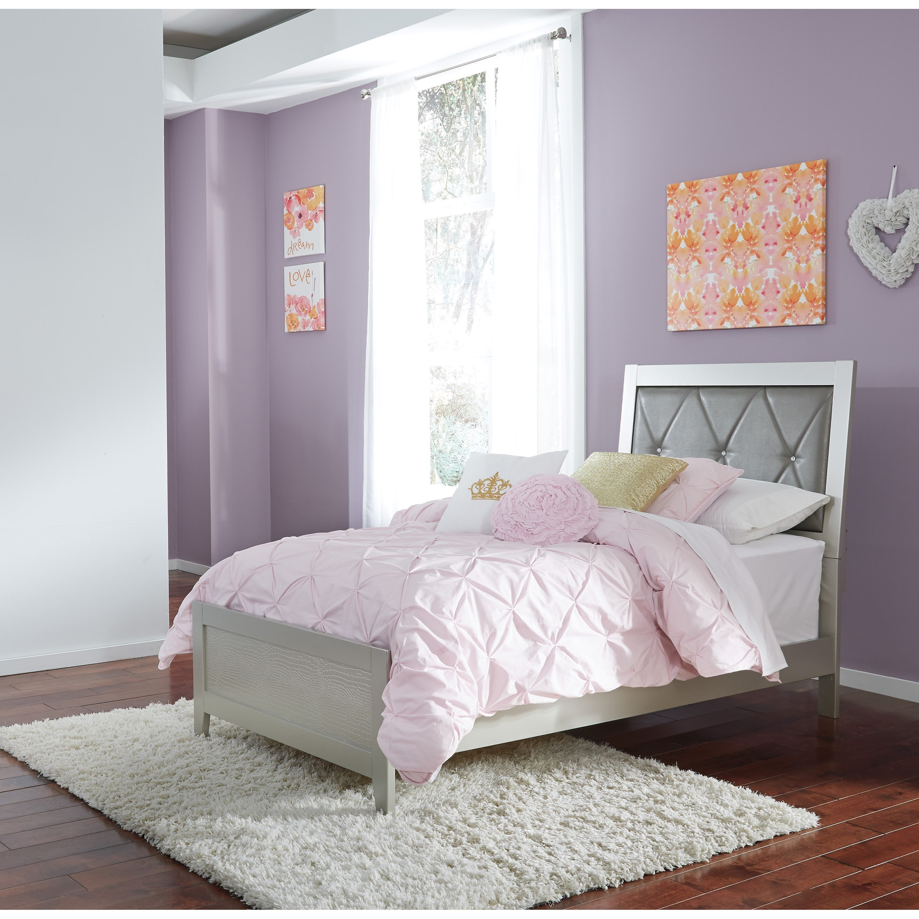 Signature Design by Ashley Olivet Twin Panel Bed - Item Number: B560-53+83