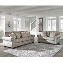 Signature Design by Ashley Olsberg Stationary Living Room Group - Item Number: 48701 Living Room Group 1