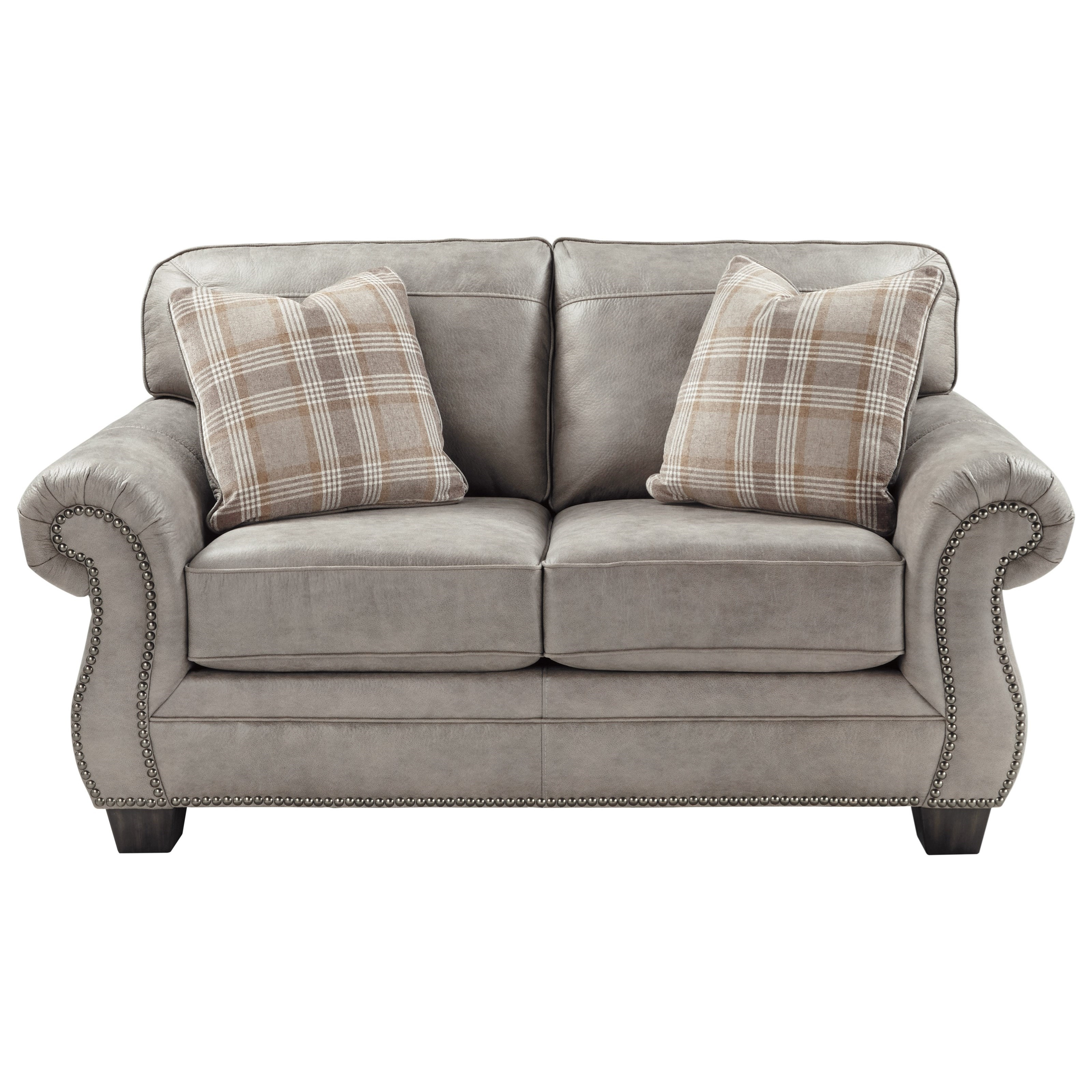 Ashley Furniture Signature Collection: Ashley (Signature Design) Olsberg Transitional Loveseat