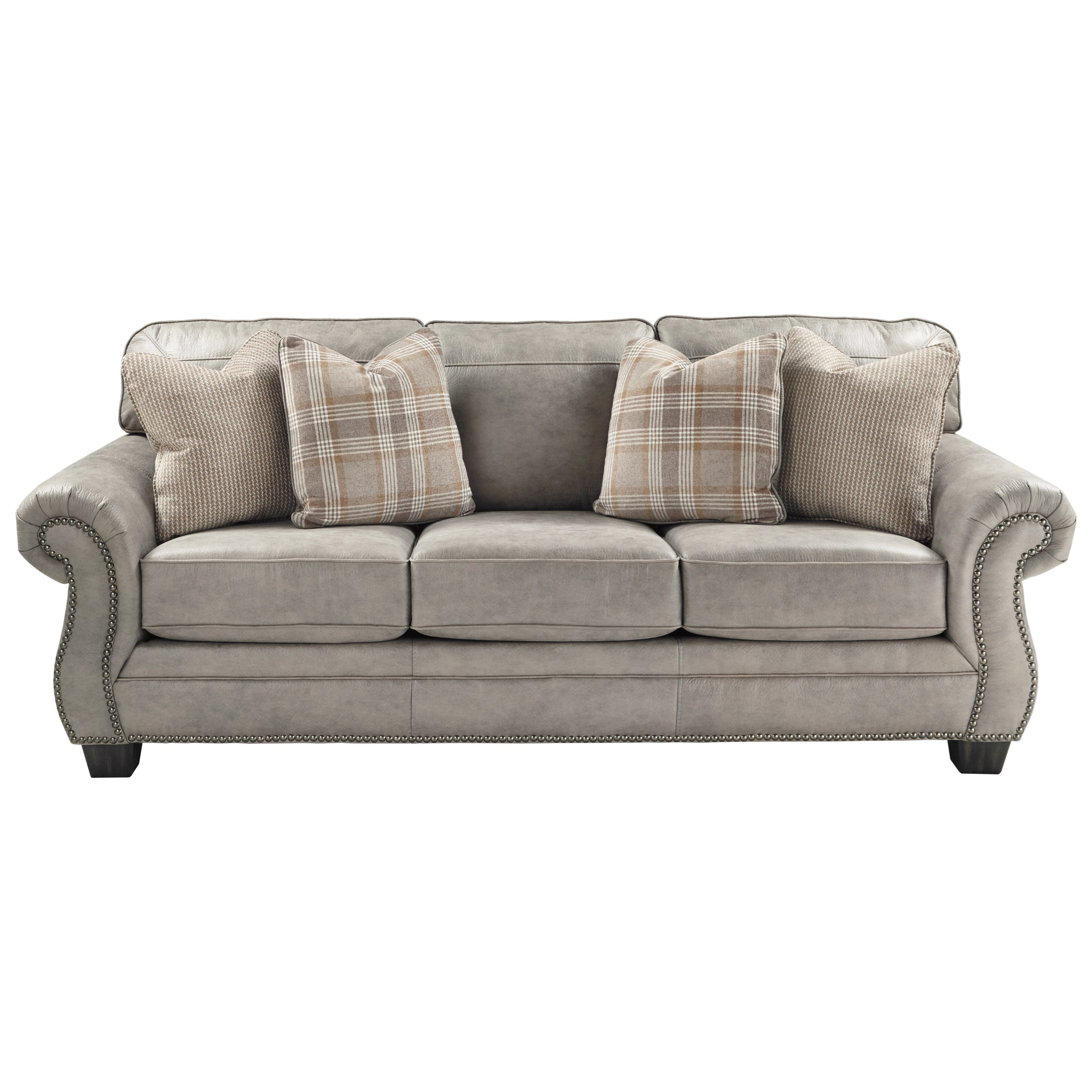 Ashley Furniture Sofas: Signature Design By Ashley Olsberg Transitional Queen Sofa