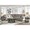 Signature Design by Ashley Olsberg 3 Piece L-Shaped Transitional Sectional