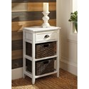 Signature Design by Ashley Oslember Accent Table with 2 Woven Baskets