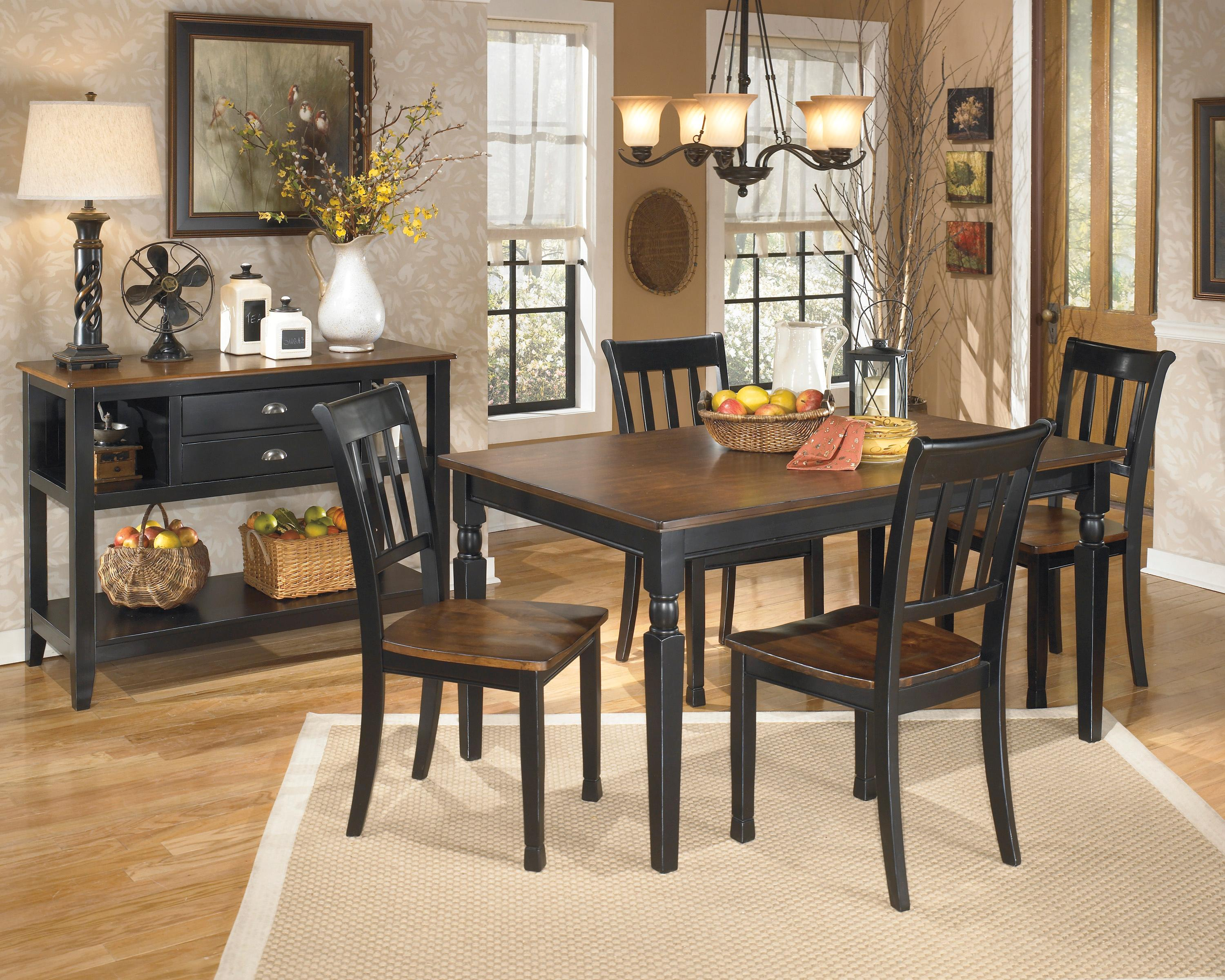 Signature Design by Ashley Owingsville Casual Dining Room Group - Item Number: D580 Dining Room Group 1