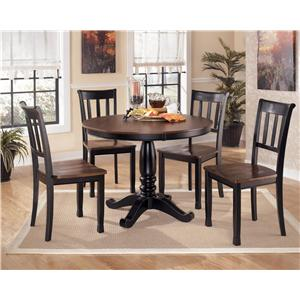 Signature Design By Ashley Owingsville 5 Piece Round Dining Table Set