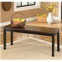 Signature Design by Ashley Owingsville Large Dining Room Bench - Item Number: D580-00
