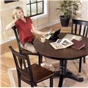 Signature Design by Ashley Owingsville Round Dining Room Table with Turned Pedestal Base - Shown with Side Chairs