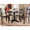 Signature Design by Ashley Owingsville Round Dining Room Table with Turned Pedestal Base - Shown with 4 Side Chairs