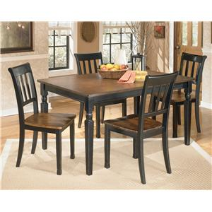 Signature Design by Ashley Owingsville 5-Piece Rectangular Dining Table Set