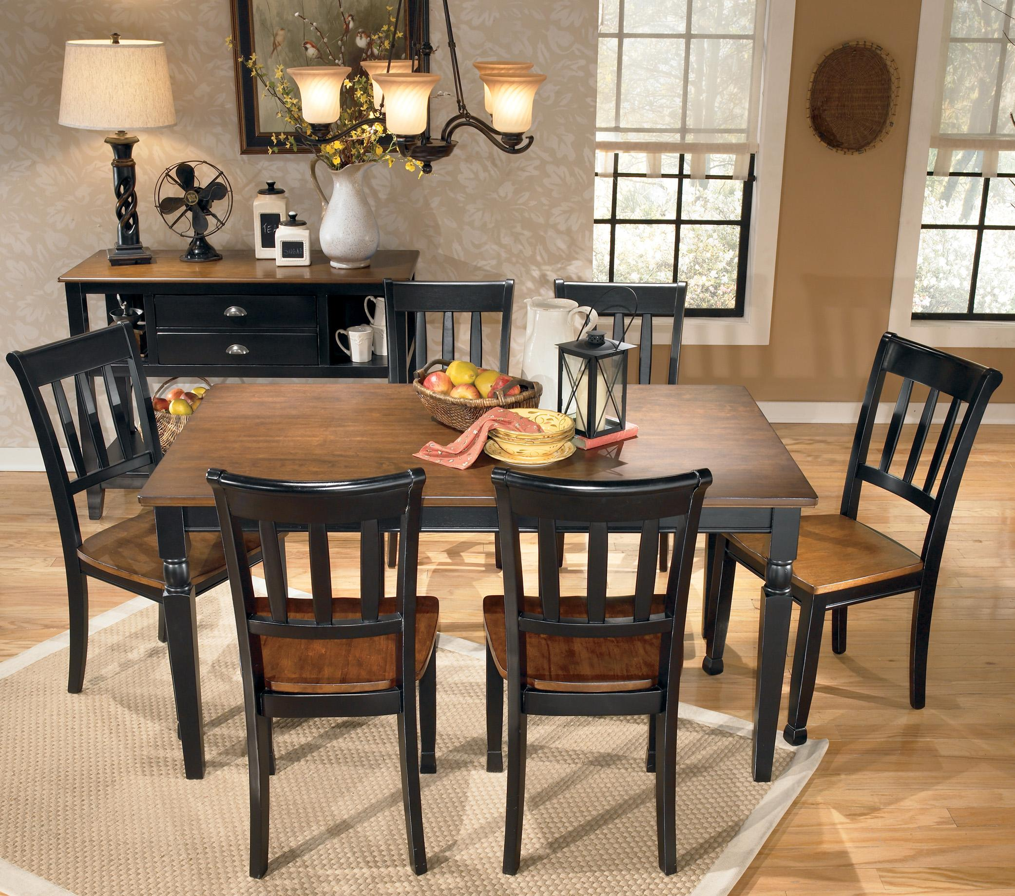 Ashley Dining Table: Signature Design By Ashley Owingsville 7-Piece Rectangular