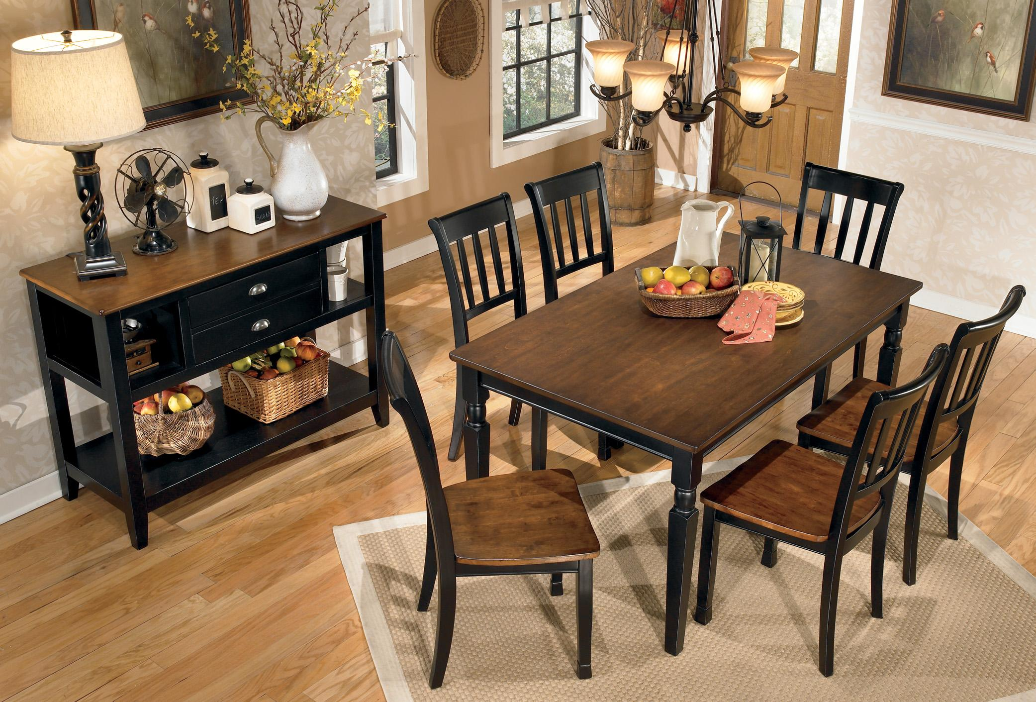 Signature Design By Ashley Owingsville 7-Piece Rectangular Dining Table Set
