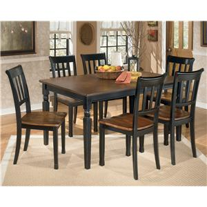 Signature Design by Ashley Furniture Owingsville 7-Piece Rectangular Dining Table Set