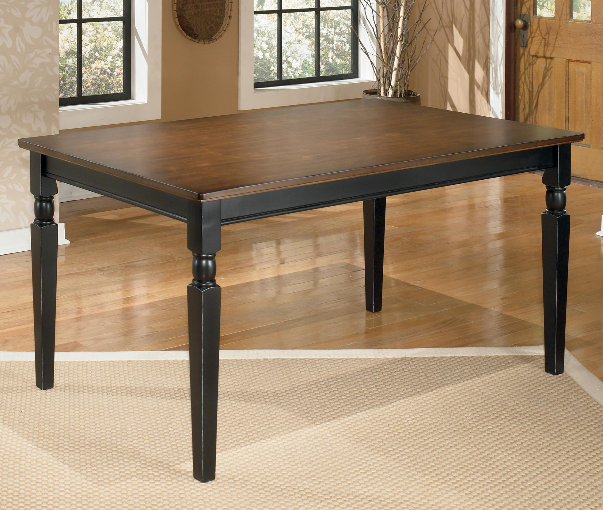 Signature Design by Ashley Owingsville Rectangular Dining Room Table - Item Number: D580-25