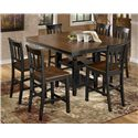 Signature Design by Ashley Owingsville 7-Piece Counter Extension Table Set - Item Number: D580-32+6x224