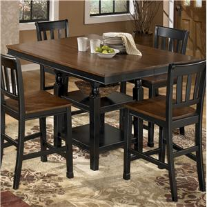 Signature Design by Ashley Owingsville Square Dining Room Counter Ext Table