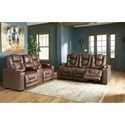 Signature Design by Ashley Owner's Box Power Reclining Living Room Group - Item Number: 24505 Living Room Group 1