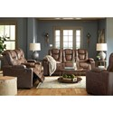 Signature Design by Ashley Owner's Box Power Reclining Living Room Group - Item Number: 24505 Living Room Group 2