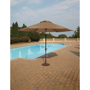 Signature Design by Ashley Umbrella Accessories Medium Auto Tilt Umbrella and Base