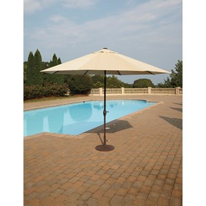 Signature Design by Ashley Umbrella Accessories Large Auto Tilt Umbrella and Base