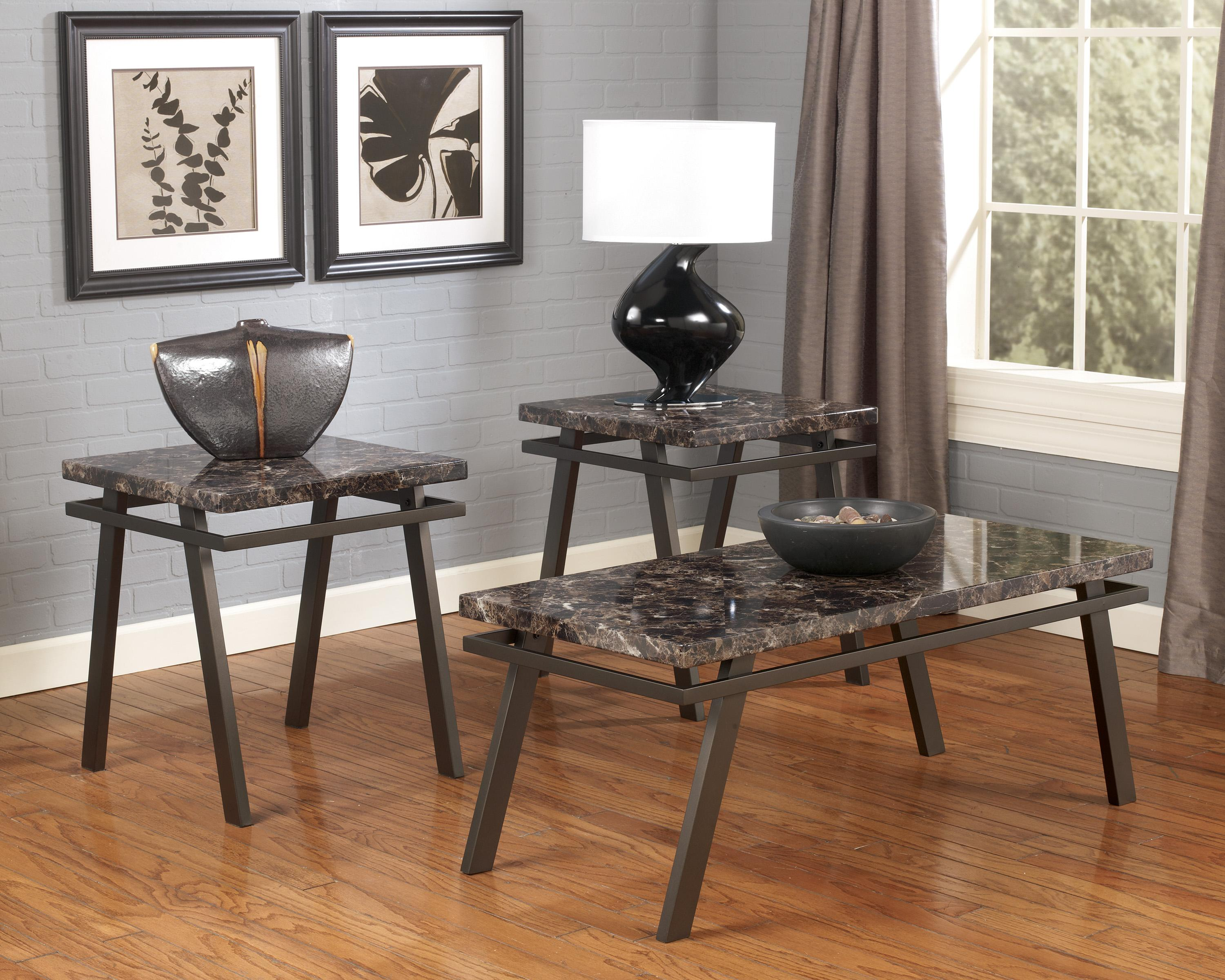 Signature Design By Ashley Paintsville T Occasional Table Set - Ashley signature coffee table set