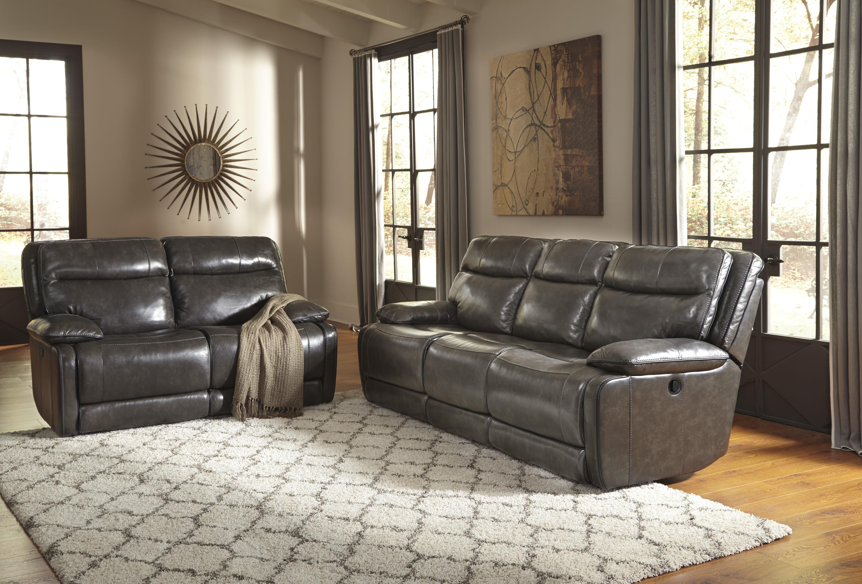 Signature Design by Ashley Palladum Reclining Living Room Group - Item Number: U72601 Living Room Group 1