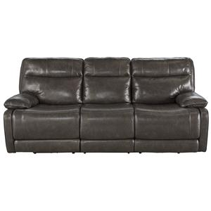 Signature Design by Ashley Palladum Reclining Power Sofa