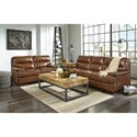 Signature Design by Ashley Palner Contemporary Leather Match Loveseat