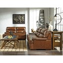 Signature Design by Ashley Palner Contemporary Leather Match Sofa