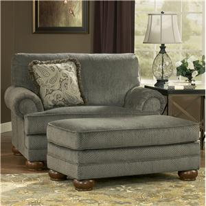 Signature Design by Ashley Parcal Estates - Basil Chair and a Half and Ottoman