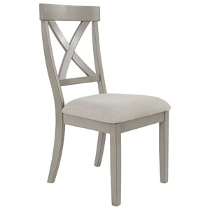 Casual Dining Side Chair with Upholstered Seat