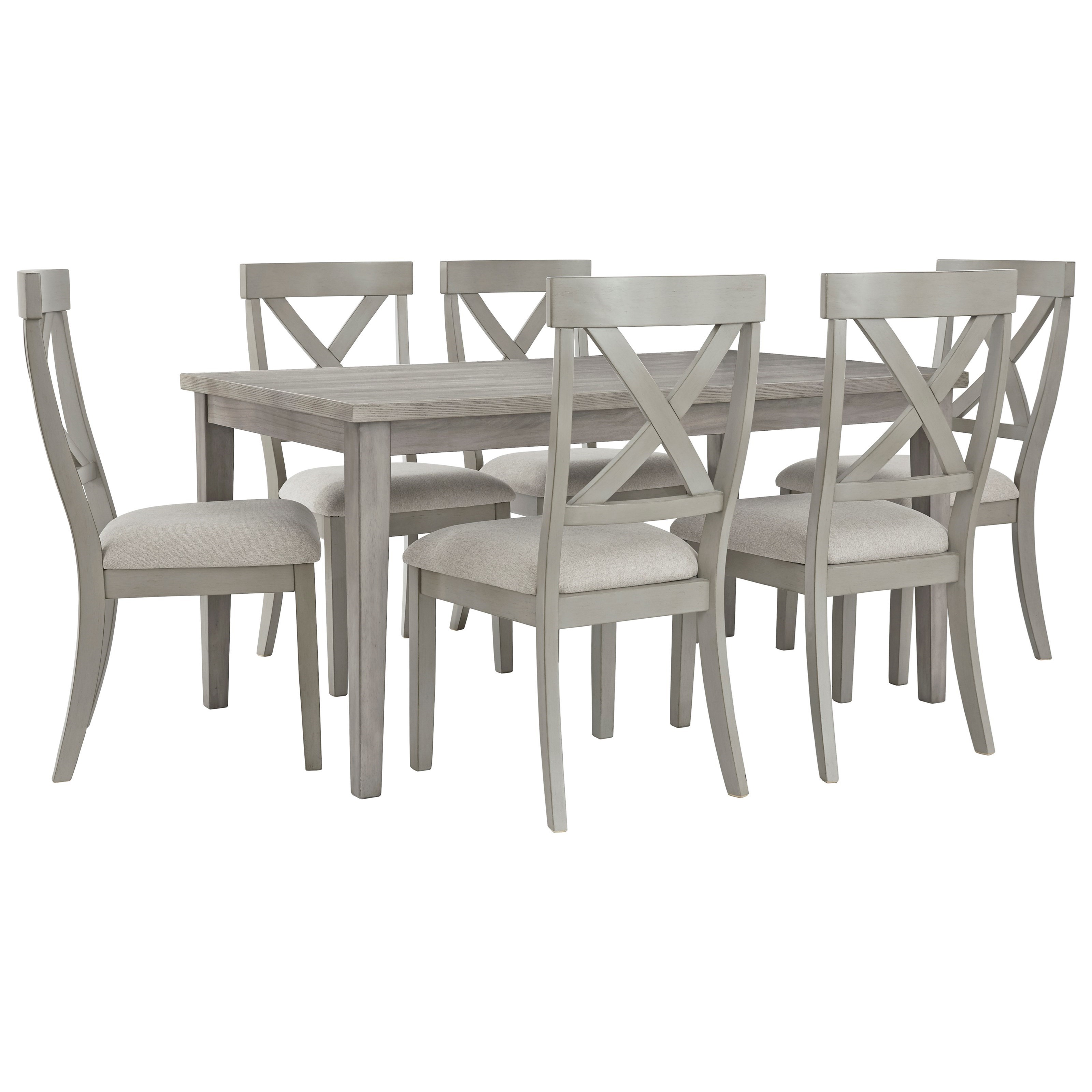 Parellen 7-Piece Table and Chair Set by Signature Design by Ashley at Northeast Factory Direct