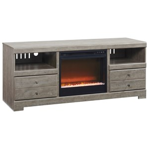 Ashley (Signature Design) Parlau TV Stand with Fireplace Insert
