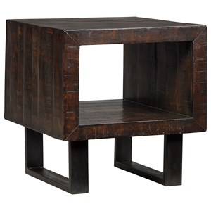 Signature Design by Ashley Parlone Rectangular End Table