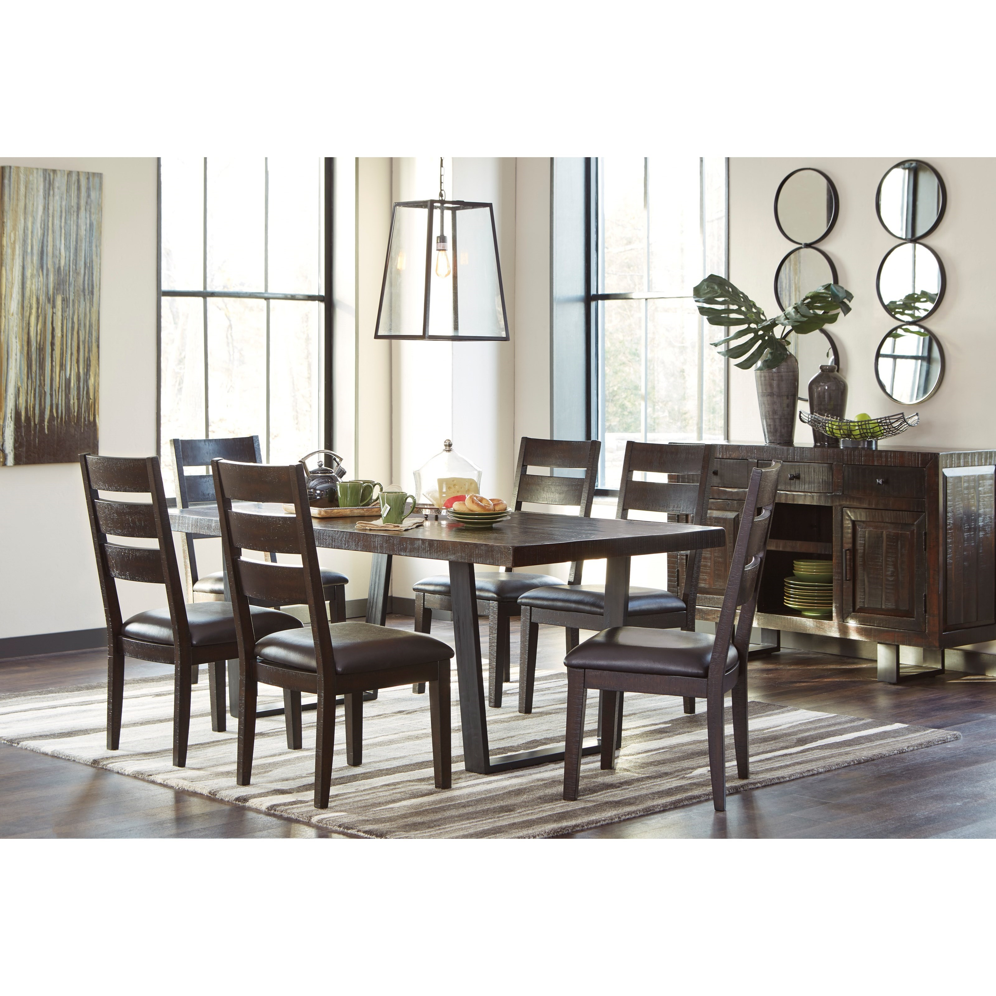 Signature design by ashley parlone 7 piece rectangular for 13 piece dining table set