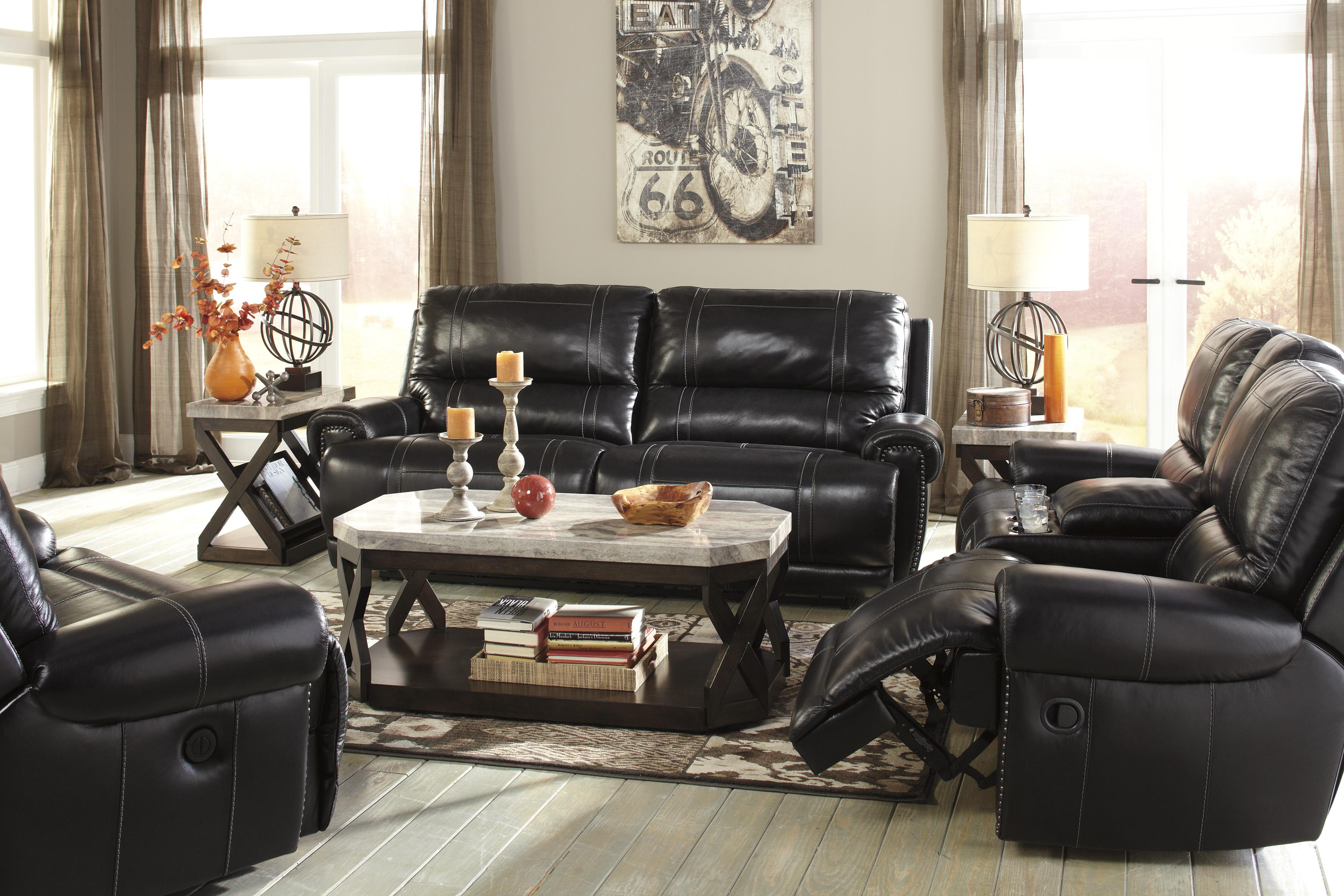 Signature Design by Ashley Paron - Antique Reclining Living Room Group - Item Number: U75901 Living Room Group 4