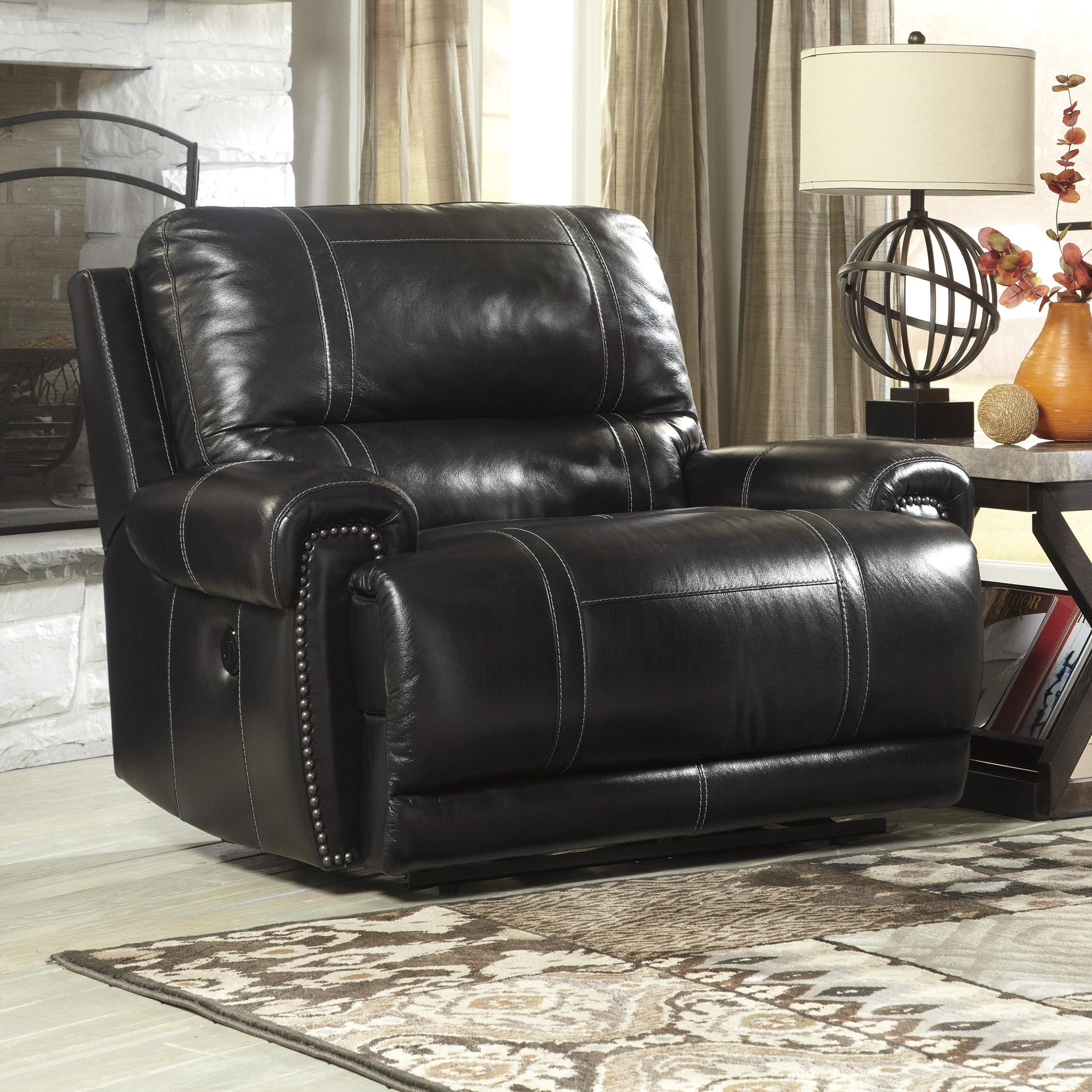 Signature Design by Ashley Paron - Antique Zero Wall Wide Seat Recliner - Item Number: U7590152