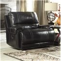 Signature Design by Ashley Paron - Antique Zero Wall Power Wide Recliner - Item Number: U7590182