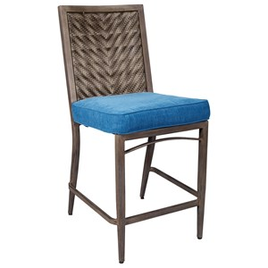 Set of 4 Outdoor Barstools with Cushion