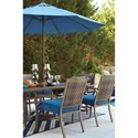 Signature Design by Ashley Partanna Set of 4 Outdoor Chairs with Cushion