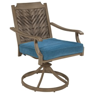 Ashley (Signature Design) Partanna Outdoor Swivel Chair with Cushion