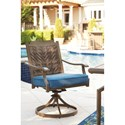 Signature Design by Ashley Partanna Set of 2 Outdoor Swivel Chairs with Cushion
