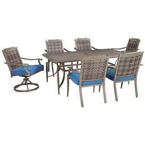 Signature Design by Ashley Partanna Outdoor Dining Table Set