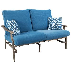 Signature Design by Ashley Partanna Set of 2 Outdoor Motion Loveseats