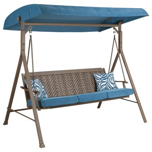 Signature Design by Ashley Partanna Outdoor Swing with Cushion
