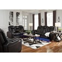 Signature Design by Ashley Party Time Power Reclining Living Room Group - Item Number: 37003 Living Room Group 2