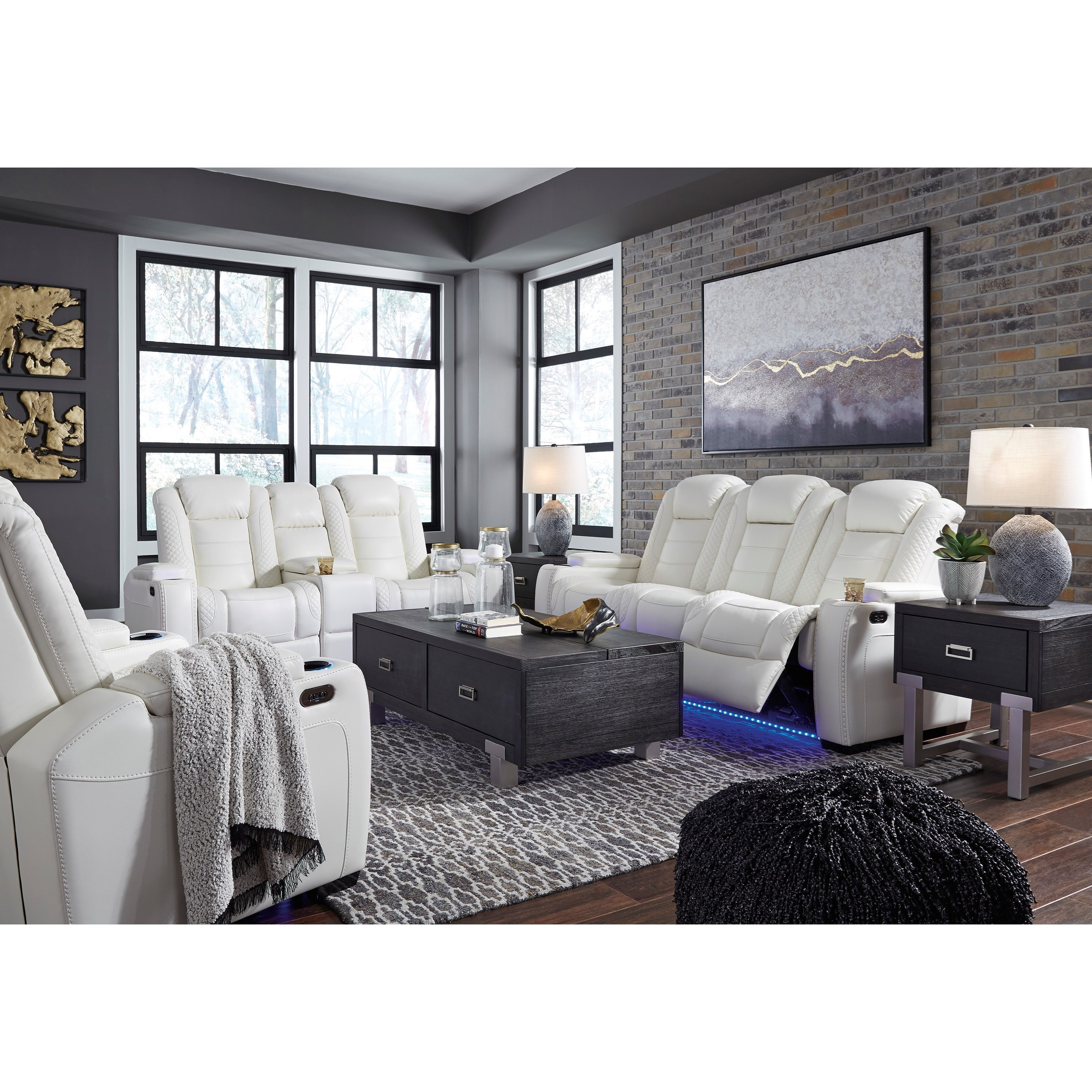 Party Time Power Reclining Living Room Group by Signature Design by Ashley at Beck's Furniture