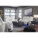 Signature Design by Ashley Party Time Power Reclining Living Room Group - Item Number: 37004 Living Room Group 2