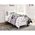 Signature Design by Ashley Paxberry Twin Panel Bed with Carved Detail Headboard